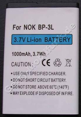 Akku Nokia 603 (entspricht BP-3L) LiIon 1000mAh 3,7Volt 3,7Wh