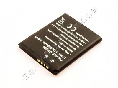 Akku Alcatel OT 880, Li-ion, 3,7V, 800mAh, 2,9Wh