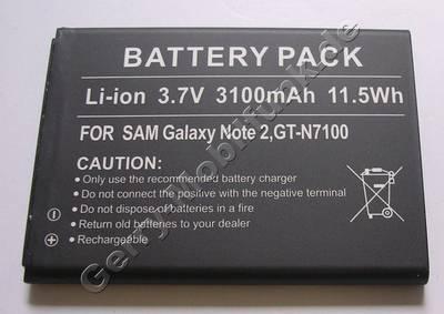 Akku Samsung Galaxy Note 2 LTE GT-N7105 Li-Ion 3100mAh 3,7Volt 11,5Wh