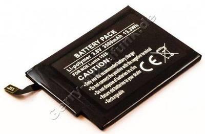 Akku für Nokia Lumia 1520 Qualitätsakku aus dem Zubehör, Ersatzakku 3500mAh ca. 13,3Wh 3,8 Volt