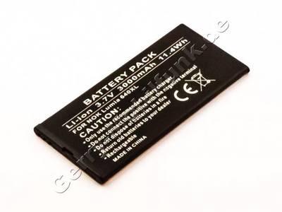 Akku für Microsoft Lumia 640 XL Qualitätsakku aus dem Zubehör, Ersatzakku 3000mAh 11,1Wh 3,7 Volt