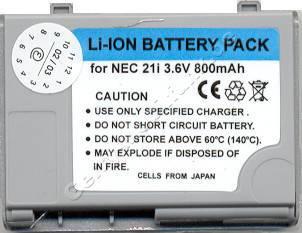 Akku NEC 21i  650mAh Li-Ion 3,6V 7,2mm