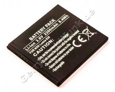 Akku für Nokia Lumia 830 Qualitätsakku aus dem Zubehör, Ersatzakku 2200mAh 8,4Wh 3,8 Volt