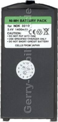 Akku Nokia 3210 NiMH 1400mAh Power 7mm Akku vom Markenhersteller mit 12 Monaten Garantie, nicht original Nokia