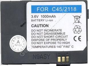 Akku Siemens C45 MT50 M50 A50 LI-Ion 1000mAh 3,6V 8mm