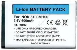 Akku Nokia 6301 Li-Ion 780mAh 4,3mm Akku vom Markenhersteller mit 12 Monaten Garantie, nicht original Nokia (entspricht BL-4C)