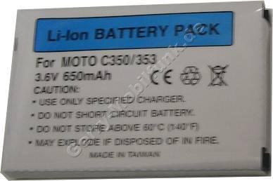 Akku Motorola C650 LI-Ion 650mAh 5,5mm (entspricht BX200)