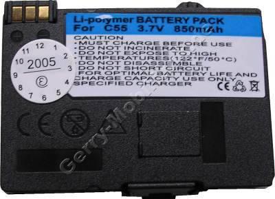 Akku Siemens A70 Li-polymer 850mAh 3,6V 7mm