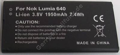 Akku Microsoft Lumia 640 ( DS ) 3,8Volt 1950mAh 7,4 Wh Zubehörakku vom Markenhersteller