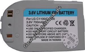 Akku LG C1300 LiIon 700mAh 3,6V 7,6mm silber