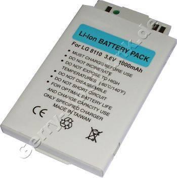 Akku LG U8380 LiIon 1000mAh 3,6V 5,7mm silber