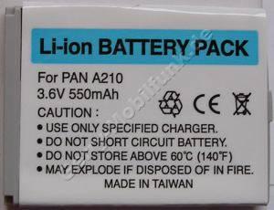 Akku Panasonic A210 LiIon 550mAh 3,6V 4,8mm