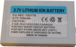 Akku NEC 770 (B6028) 700mAh Li-Ion 3,7V 5,4mm