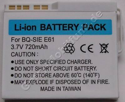 Akku BenQ-Siemens E61 (entspricht EBA-162) LiIon 720mAh 3,7V 5,6mm ca. 20g