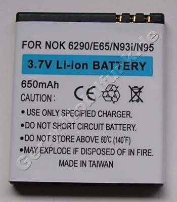 Akku Nokia 6210 Navigator LiIon 650mAh 5,2mm Akku vom Markenhersteller mit 12 Monaten Garantie, nicht original Nokia (entspricht BL-5F, BL-6F)