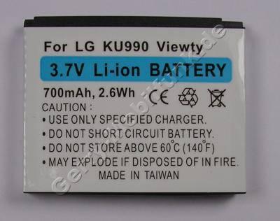 Akku LG CU915 LiIon 700mAh 3,7V 5,6mm ca. 23g Zubehörakku (entspricht LGIP-580A, SBPL0091101)