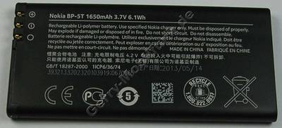Akku original  Nokia Lumia 820 BP-5T LiIon 1650mAh