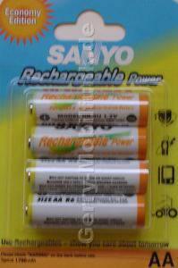 4 x Akku NiMH 1700mAh im Blister Sanyo ( Mignon, AA, R6)