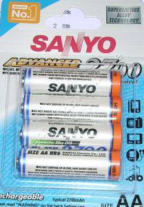 4 x Akku NiMH 2500mAh im Blister Sanyo ( Mignon, AA, R6)