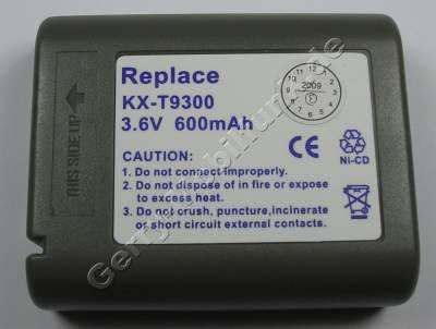 Akku für Panasonic NiCd 600mAh 3,6V Geräte: KXT9300/-G/-S KXT9301SL KXT9310 KXT0310BSXG KXT9320 KXT9410 KXT9500 KXT9509