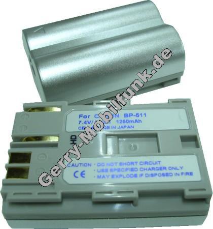 Akku Canon Optura PI BP-511 Daten: 1500mAh LiIon 21mm silber (Zubehörakku vom Markenhersteller)