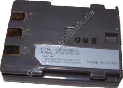 Akku Canon Elura 40MC NB-2L Daten: 800mAh 7,4V LiIon 16mm (Zubehörakku vom Markenhersteller)