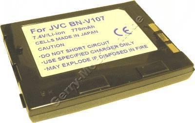 Akku JVC GR DVP1 Daten: 850mAh 7,4V LiIon 8mm schwarz (Zubehörakku vom Markenhersteller)