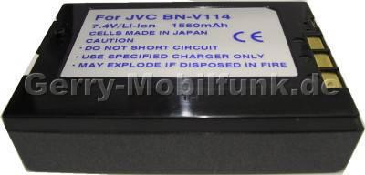 Akku JVC GR-DVP3 Daten: 1700mAh 7,4V LiIon 15mm schwarz (Zubehörakku vom Markenhersteller)