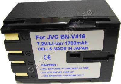Akku JVC DVL200 Daten: 2200mAh 7,2V LiIon 39,4mm dunkelblau (Zubehörakku vom Markenhersteller)