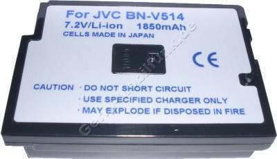 Akku JVC DVM70 Daten: 1850mAh 7,2V LiIon 30,5mm dunkelgrau (Zubehörakku vom Markenhersteller)