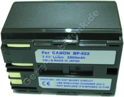 Akku CANON MV430i Daten: Li-ion 7,4V 3000 mAh, grau 39,9mm (Zubehörakku vom Markenhersteller)