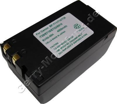 Akku CANON BP-E722 Daten: NiMH 6V 4000 mAh, schwarz 38mm (Zubehörakku vom Markenhersteller)