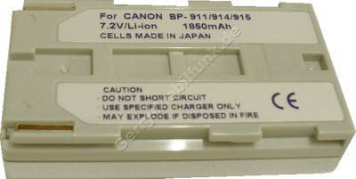 Akku CANON G2000 BP-915 Daten: Li-Ion 7,2V  1850 mAh, silber 20,5mm (Zubehörakku vom Markenhersteller)