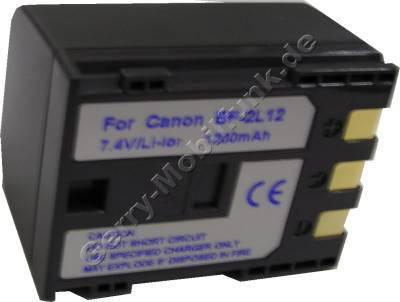 Akku CANON MVX25 BP-2L13 Daten: Li-Ion 7,4V 1500mAh, dunkelgrau 30,2mm (Zubehörakku vom Markenhersteller)