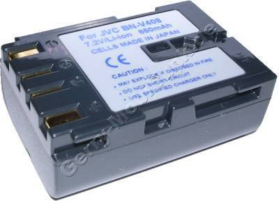 Akku JVC BN-V408 Daten: LiIon 7,2V 1100mAh 22,5mm dunkelgrau (Zubehörakku vom Markenhersteller)