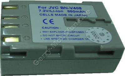 Akku JVC BN-V408 Daten: LiIon 7,2V 1100mAh 22,5mm silber-champagner (Zubehörakku vom Markenhersteller)