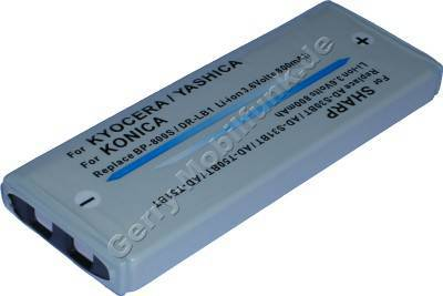 Akku KONICA DR-LB1, Revio KD-300Z Daten: LiIon 3,6V 1000mAh 6mm (Zubehörakku vom Markenhersteller)