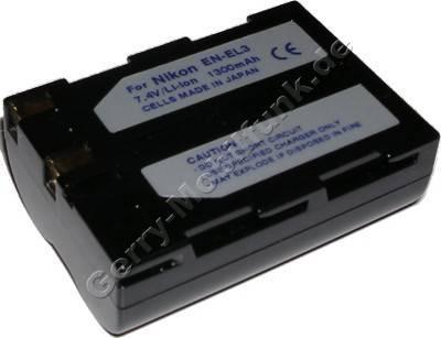 Akku NIKON D100 Daten: LiIon 7,4V 1500mAh 20,5mm (Zubehörakku vom Markenhersteller)