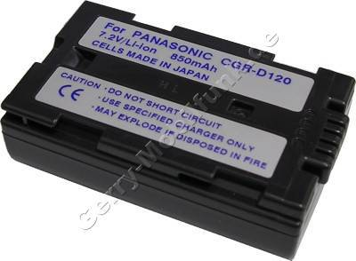 Akku PANASONIC NV-DS38 Daten: LiIon 7,2V 1100mAh 19,5mm dunkelgrau (Zubehörakku vom Markenhersteller)