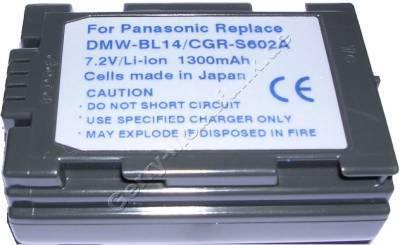 Akku PANASONIC Lumix DMC-LC40 Daten: LiIon 7,2V 1300mAh 22,7mm (Zubehörakku vom Markenhersteller)