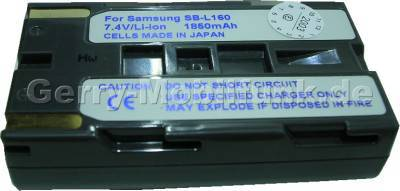 Akku SAMSUNG SB-L110A Daten: LiIon 7,4V 2000mAh 20,5mm (Zubehörakku vom Markenhersteller)