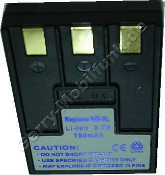 Akku Canon Ixus IIs schwarz Daten: 790mAh 3,7V LiIon 9mm (Zubehörakku vom Markenhersteller)