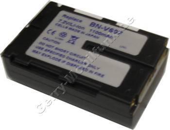 Akku JVC BN-V607 dunkelgrau Daten: 1100mAh 7,4V LiIon 19,5mm (Zubehörakku vom Markenhersteller)
