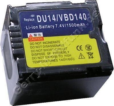 Akku PANASONIC CGA-DU14E CGA-DU1B NV-GS10 NV-GS30 NV-GS50 NV-GS70 Daten: LiIon 7,4V 1360mAh 30mm dunkelgrau (Zubehörakku vom Markenhersteller)