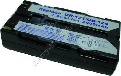 Akku SANYO UR-121D IDC-1000Z dunkelgrau Daten: LiIon 7,4V 2000mAh  20,4mm (Zubehörakku vom Markenhersteller)