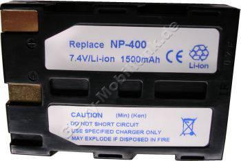 Akku für Minolta Bateriegriff BP-400 ! Es werden zwei Akkus benötigt Daten: 1500mAh 7,4V LiIon 21mm schwarz (Zubehörakku vom Markenhersteller)