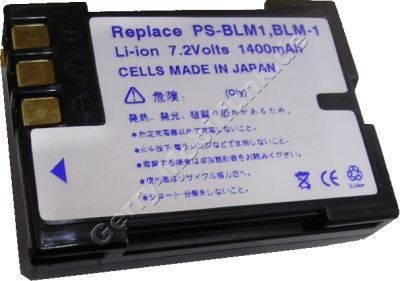 Akku OLYMPUS PS-BLM1 schwarz Daten: LiIon 7,2V 1500mAh 21mm (Zubehörakku vom Markenhersteller)