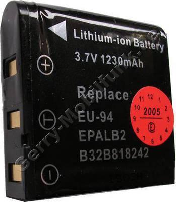 Akku Epson PhotoPC L-500V schwarz Daten: 1230mAh 3,7V LiIon 9,5mm ca 30g (Zubehörakku vom Markenhersteller)