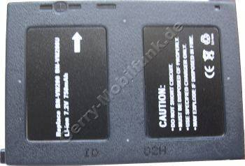 Akku JVC GZ-MC200EX Daten: LiIon 7,4V 750 mAh 8mm dunkelgrau (Zubehörakku vom Markenhersteller)