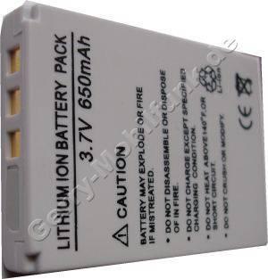 Akku Minolta DiMAGE E50  (02491-0015-00) Daten: 650mAh 3,7V LiIon 7mm (Zubehörakku vom Markenhersteller)